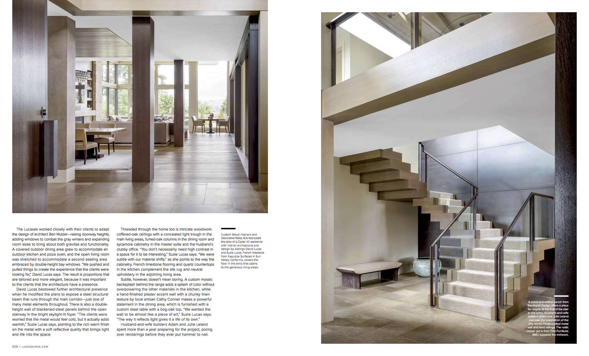 Adam leland homes featured in luxe magazine adam leland for Leland house